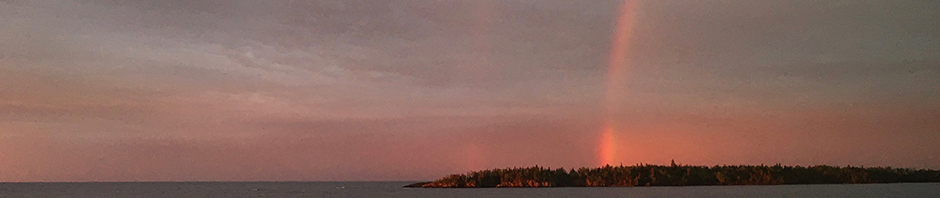 rainbow east of Isle Royale
