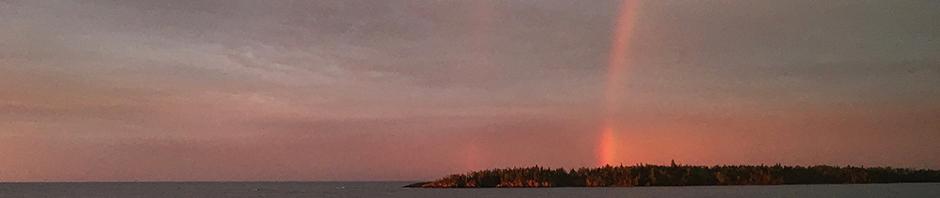 rainbow east of Isle Royale